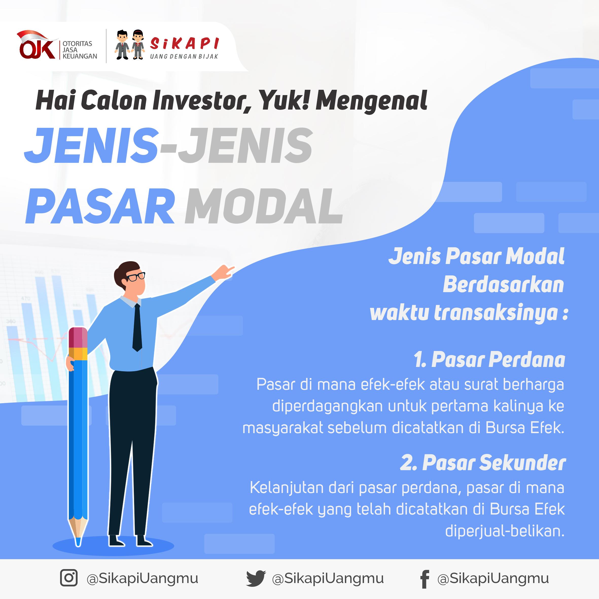 Hai Calon Investor Yuk Mengenal Jenis Pasar Modal Sikapi
